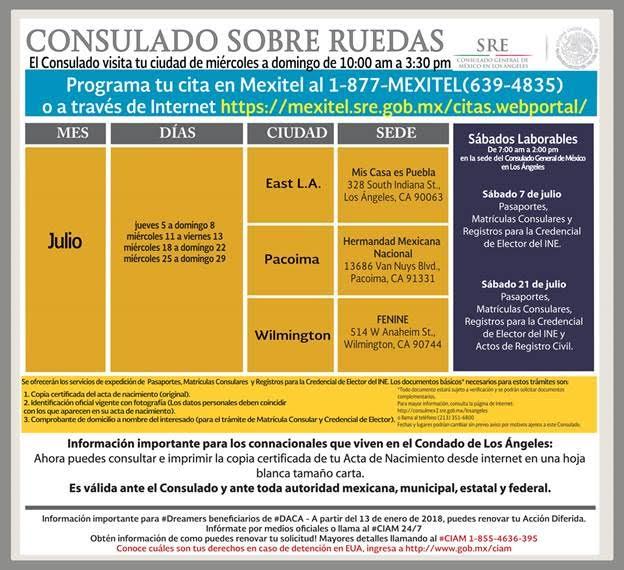 Consulado sobre Ruedas en el mes de Julio – Impulso de Oaxaca
